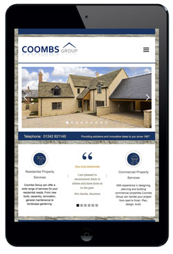 Coombs Group website designed by Piefinch