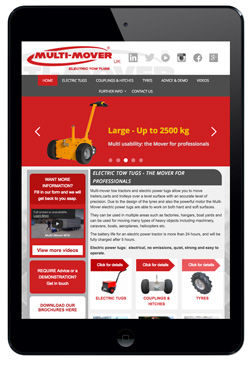 MultiMover UK website designed by Piefinch