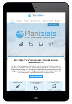 Plantstats website designed by Piefinch