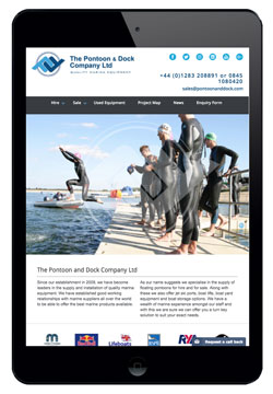 Pontoon and Dock website designed by Piefinch