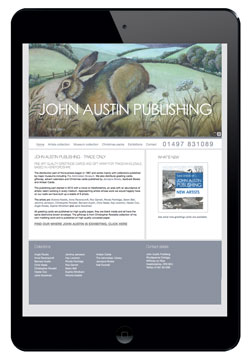 John Austin website designed by Piefinch