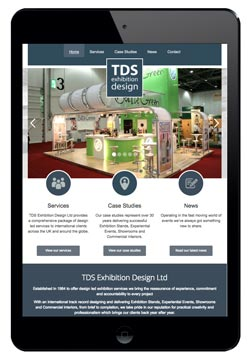 TDS website designed by Piefinch